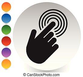 touchscreen, ruchomy, klapiąc, interfejs, telefon, ikona