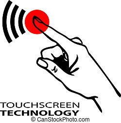 touchscreen, simbolo