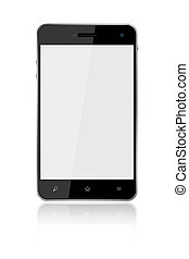 Touchscreen Smart Phone on white background,included clipping path