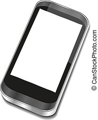 touchscreen, smartphone, abstrakcyjny, -, iphon, 3d