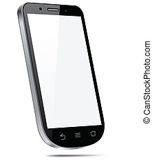 touchscreen, smartphone, concept., 3차원
