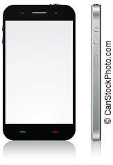 touchscreen, smartphone, concept.