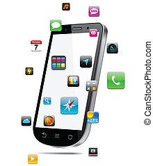 Touchscreen smartphone concept. - Vector Concept ...