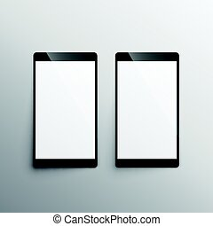 touchscreen, smartphone, gabarit, mockup