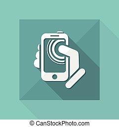touchscreen, smartphone, icône