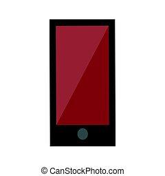 touchscreen, smartphone, portable, communication mobile, gadget, isolé, illustration, téléphone, vecteur, appareil, numérique, toucher, technologie, électronique, exposer