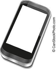 touchscreen, smartphone, résumé, -, iphon, 3d