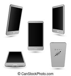 touchscreen, smartphone, téléphone.