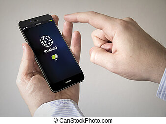 touchscreen smartphone with roaming on the screen