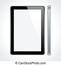 Touchscreen tablet concept. - Vector Concept tablet. No...