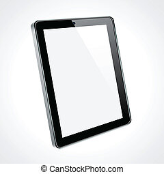 touchscreen, tablette, concept.