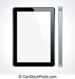 touchscreen, tabuleta, concept.