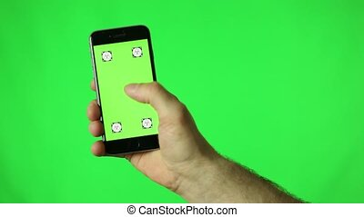 Touchscreen tap green key - touchscreen tap green key HD an...