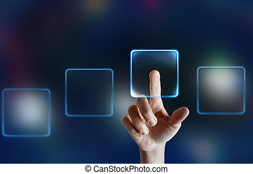 touchscreen, textanzeige