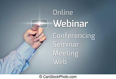 touchscreen, webinar, virtual