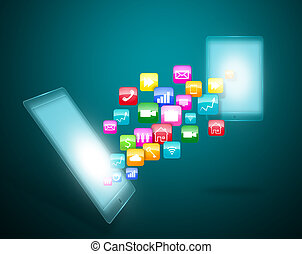 Touchscreen with application icons