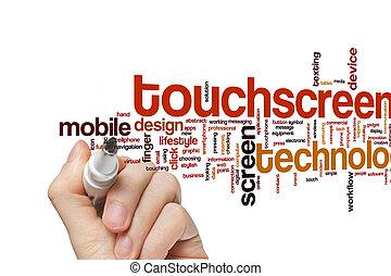 Touchscreen word cloud