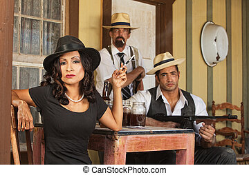 Tough 1920s Bootleggers - 1920s vintage gangsters with...