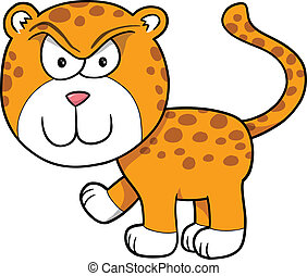 Tough Angry Leopard Vector