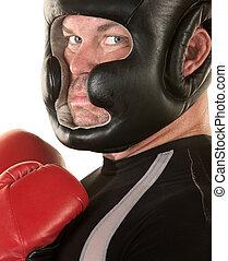 Tough Boxer Staring