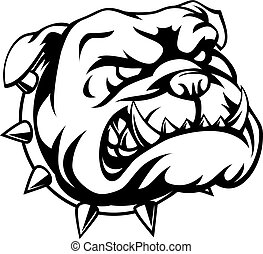 Tough Bulldog - A mean looking cartoon bulldog
