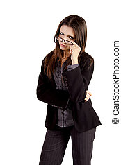 Tough business woman with glasses - A both tough and sexy...