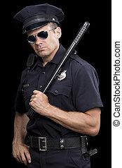 Tough cop in uniform