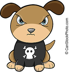 Tough Puppy Dog Animal Vector