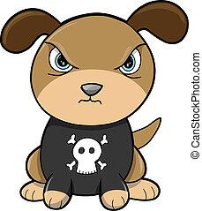 Tough Puppy Dog Animal Vector