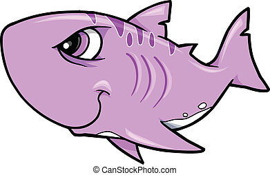 Tough Shark Vector Illustration