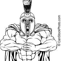 Tough spartan - A tough muscular spartan or trojan mascot...