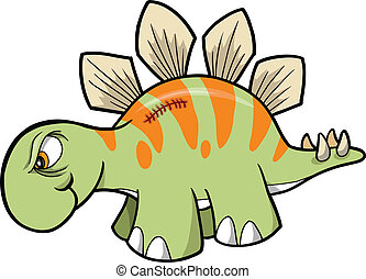 Tough Stegosaurus Dinosaur Vector