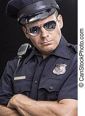 Tough uniformed street cop
