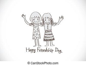 toujours, amitié, idée, conception, amis, jour, mieux,...