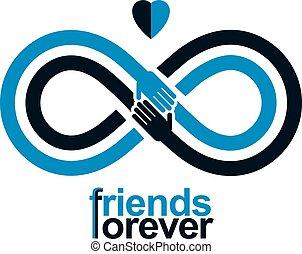 toujours, infinité, autre, amis, mains, deux, signe,...
