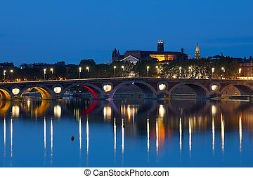 Toulouse at a summer night