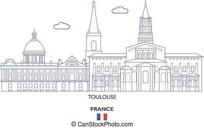 Toulouse Linear City Skyline, France
