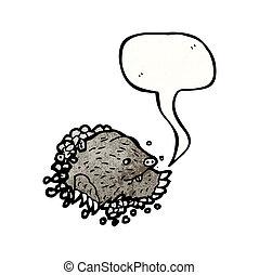 toupeira, ilustração