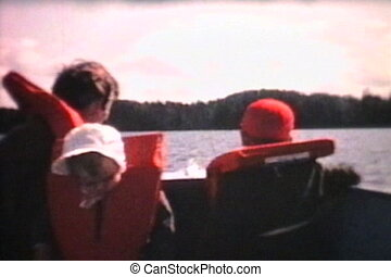 tour bateau, va, famille, (1966)