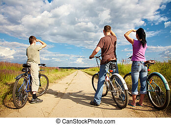 tour bicyclette, famille