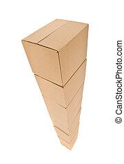 tour, boîtes carton