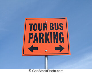 tour bus parking sign