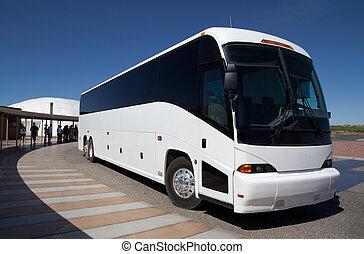Tour Bus at a Tourist Site