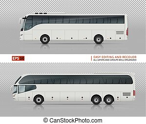 Tour buses vector illustration