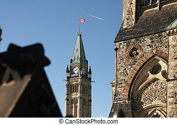 tour, canadien, paix