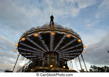 tour, carrousel, eiffel, paris