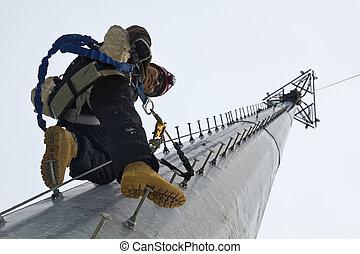 tour cellule, grimpeur