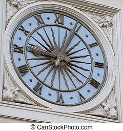 tour, clock-face, vieux, horloge