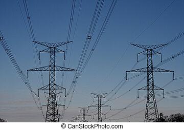 tour, courant électrique, hydro