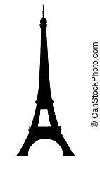 Tour Eifell in Paris isolated vector illustration